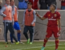 Michael Mangum  |  Special to the Tribune  Real Salt Lake forward Joao Plata (10) celebrates his game-winning goal against the Colorado Rapids during the second half their match at Rio Tinto Stadium in Sandy, UT on Saturday, April 9, 2016. RSL won 1-0.
