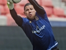 Michael Mangum  |  Special to the Tribune  Real Salt Lake goalkeeper Nick Rimadno warms up before their match against the Colorado at Rio Tinto Stadium on Sunday, June 7, 2015.