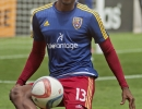 Michael Mangum  |  Special to the Tribune  Real Salt Lake forward Olmes Garcia warms up before the beginning of the match against the Colorado Rapids at Rio Tinto Stadium on Sunday, June 7, 2015.