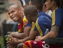 Michael Mangum  |  Special to the Tribune  Real Salt Lake defender Jamison Olave sits on the bench after coming out of the game with an early injury against the Colorado Rapids during the first half of their match at Rio Tinto Stadium on Sunday, June 7, 2015.