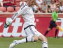 Michael Mangum  |  Special to the Tribune  Colorado Rapids goalkeeper Clint Irwin takes a goal kick in the first half of their match against Real Salt Lake at Rio Tinto Stadium on Sunday, June 7, 2015.