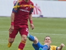 Michael Mangum  |  Special to the Tribune  Real Salt Lake forward Sebastian Jaime (23) avoids Colorado Rapids midfielder Sam Cronin (6) during the first half of their match at Rio Tinto Stadium on Sunday, June 7, 2015.