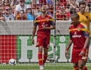 Michael Mangum  |  Special to the Tribune  Real Salt Lake forward Alvaro Saborio groans after a missed chance by Real Salt Lake during the first half of their match against the Colorado Rapids at Rio Tinto Stadium on Sunday, June 7, 2015.