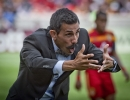 Michael Mangum  |  Special to the Tribune  Colorado Rapids head coach Pablo Mastroeni argues a call with the referee during their match against Real Salt Lake at Rio Tinto Stadium on Sunday, June 7, 2015.