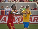 Michael Mangum  |  Special to the Tribune  Real Salt Lake defender Abdoulie Mansally (29) reacts following a failed goal opportunity by Real Salt Lake during the second half of their match against the Colorado Rapids at Rio Tinto Stadium on Sunday, June 7, 2015. The match ended in a 0-0 draw.