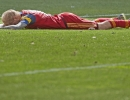 Michael Mangum  |  Special to the Tribune  Real Salt Lake midfielder Luke Mulholland lays face down on the pitch following a missed shot against the Colorado Rapids during the second half of their match at Rio Tinto Stadium on Sunday, June 7, 2015. The match ended in a 0-0 draw.