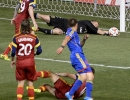 Real Salt Lake goalkeeper Jeff Attinella makes a diving save during their match against the Colorado Rapids at Rio Tinto Stadium in Sandy, UT on Saturday, May 17, 2014. Real Salt Lake defeated Colorado 2-1.