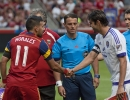 Michael Mangum | Special to the Tribune Captains Javier Morales (11) of Real Salt Lake and Kaka (10) of Orlando City SC shake hands before the beginning of their match at Rio Tinto Stadium on Saturday, July 4, 2015. The match ended in a 1-1 draw.