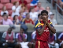 Michael Mangum  |  Special to the Tribune  Real Salt Lake forward Olmes Garcia (13) reacts after a failed attacking opportunity during the first half of their match against Orlando City SC at Rio Tinto Stadium on Saturday, July 4, 2015.