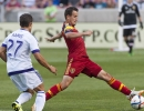 Michael Mangum  |  Special to the Tribune  Real Salt Lake midfielder Luis Gil (10) intercepts a pass during the first half of their match against Orlando City SC at Rio Tinto Stadium on Saturday, July 4, 2015.