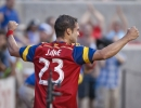 Michael Mangum  |  Special to the Tribune  Real Salt Lake forward Sebastian Jaime (23) celebrates his game-tying goal during the first half of their match against Orlando City SC at Rio Tinto Stadium on Saturday, July 4, 2015.