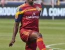 Michael Mangum  |  Special to the Tribune  Real Salt Lake forward Olmes Garcia (13) controls the ball during the first half of their match against Orlando City SC at Rio Tinto Stadium on Saturday, July 4, 2015.
