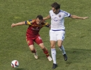 Michael Mangum  |  Special to the Tribune  Real Salt Lake midfielder Luis Gil (10) and Orlando City SC forward Kaka battle for possession during the first half of their match at Rio Tinto Stadium on Saturday, July 4, 2015.