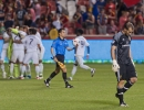 Michael Mangum  |  Special to the Tribune  The Seattle Sounders celebrate their penalty shootout victory as Real Salt Lake goalkeeper Jeff Attinella walks away during their U.S. Open Cup match at Rio Tinto Stadium in Sandy, UT on Tuesday, June 28th, 2016. The match ended in a 1-1 draw with Seattle advancing after winning in a penalty kick shootout.