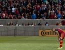 Real Salt Lake forward Alvaro Saborio (15) places the ball for a penalty kick during their match against Toronto FC at Rio Tinto Stadium in Sandy, UT on Saturday, March 29, 2014. Saborio scored on the kick and finished with 2 goals as Real Salt Lake defeated Toronto FC 3-0.